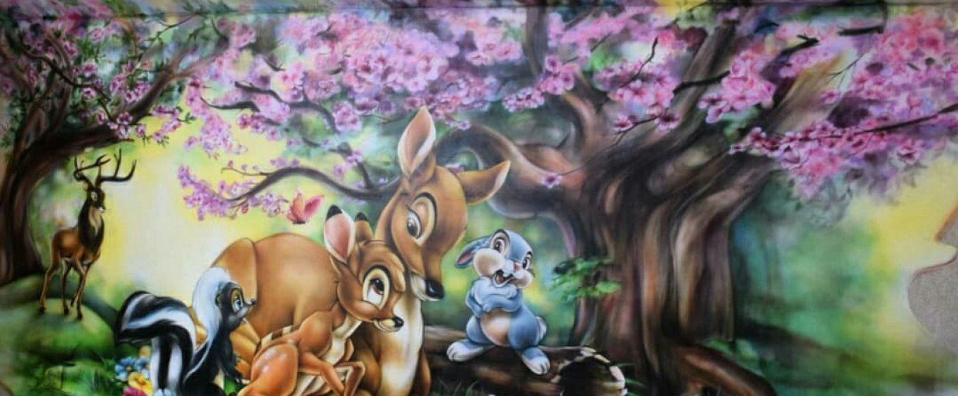 Роспись детской спальни