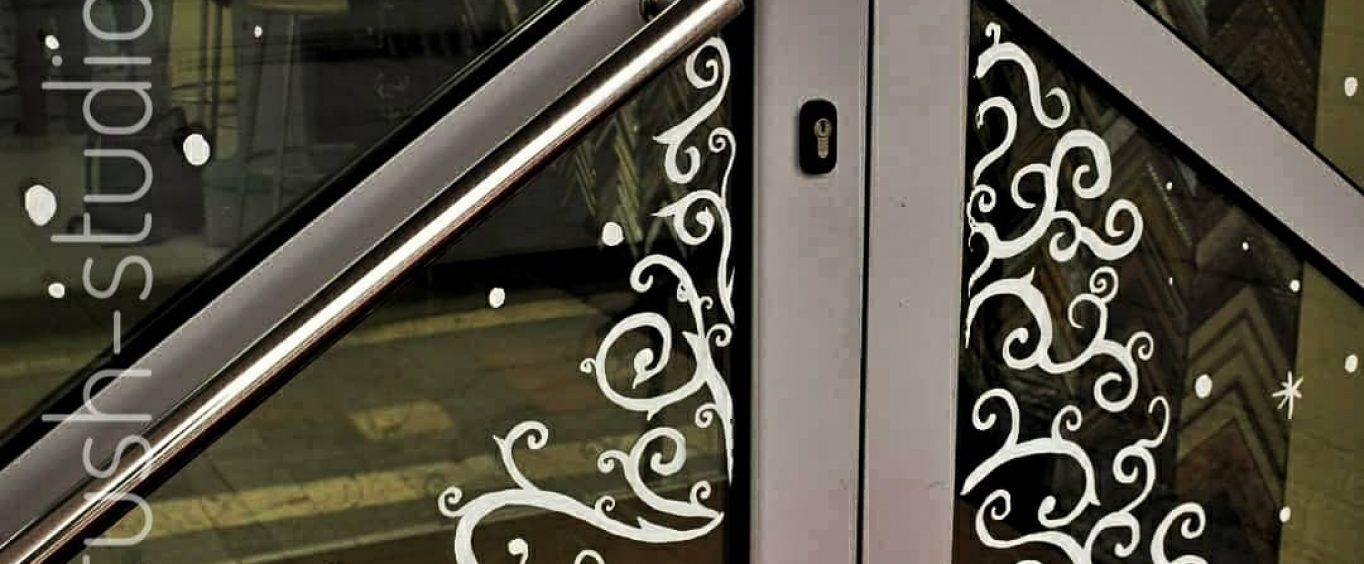 Роспись витрин